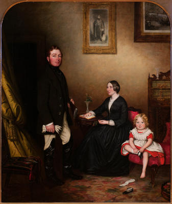Mr and Mrs Robert Hill Kinnear and their daughter, Rosalie