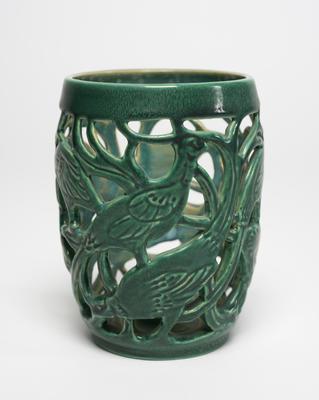 Candlestick with Filigree Pheasant motif