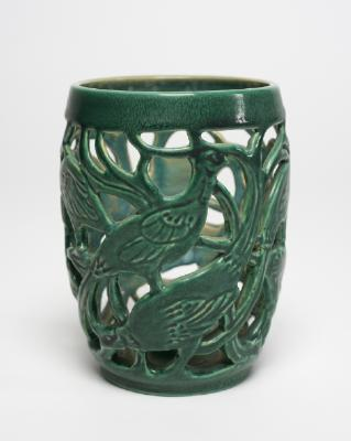 Candlestick with Filigree Pheasant motif