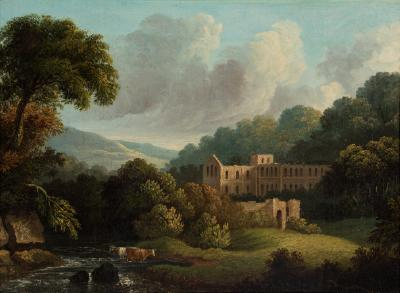 English rural scene (Tintern Abbey)