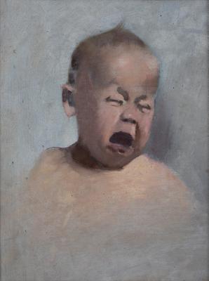 Study of a child crying