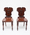 Edwardian Cedar Arched Top Hall Chairs, with shield back, turned legs Victorian Mahogany Shield Back Hall Chairs, with octagonal legs